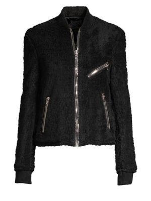 RTA Phoenix Faux Shearling Jacket in Black