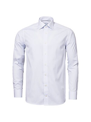 cadabd1c4586 Eton - Contemporary Fit Twill Dress Shirt - saks.com