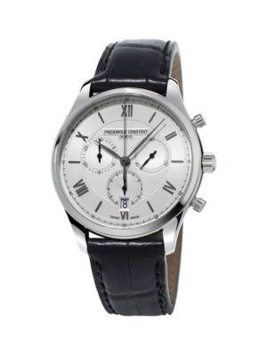 Frederique Constant Chronograph Stainless Steel Quartz Watch