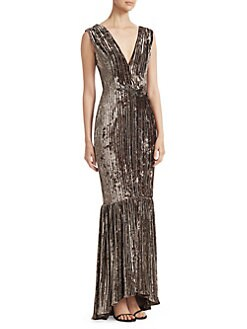 b64337f6f1593 QUICK VIEW. David Meister. Pleated Velvet Mermaid Gown