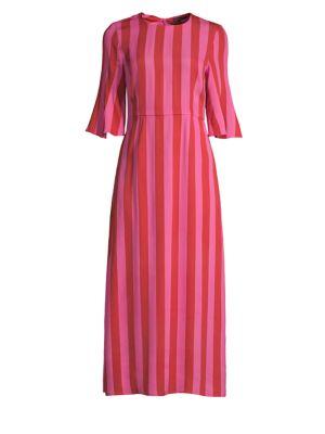 Stine Goya Kirsten Stripe Midi Dress