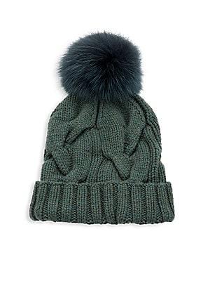 6f75fe713 Glamourpuss - Fox & Rabbit Fur Ribbed Beanie - saks.com