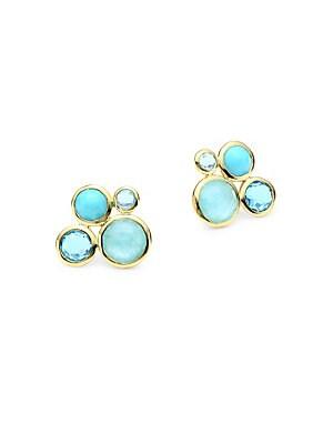 Ippolita 18k Lollipop Yellow Gold Gemstone Stud Earrings