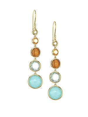 Ippolita 18k Lollipop Lollitini Multi Stone Yellow Gold Drop Earrings