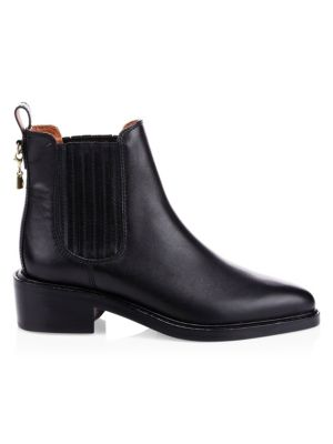 Bowery Calf Chelsea Boots in Black