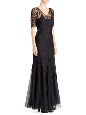 Ralph Lauren Dresses 50th Anniversary Embroidered Floral Evening Gown