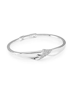 b54b11668 Ippolita - Stardust Sterling Silver & Diamond Pavé Folded Ribbon Bracelet -  saks.com