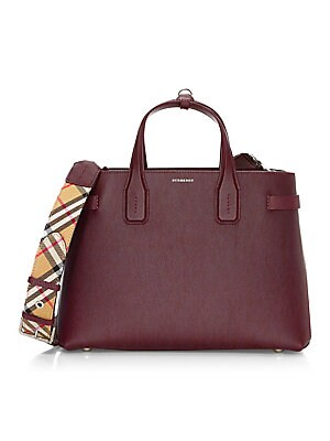 a7be2c4bdf1c Burberry - Banner Medium Leather Satchel - saks.com