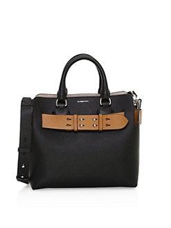 e7bb9c3290e3 Burberry. Small Marais Contrast Belt Leather Tote Bag