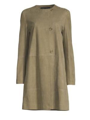 Kierra Suede Jacket, Bay Leaf