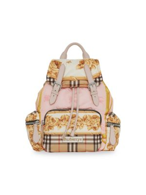 Medium Rucksack Silk-Print Puffer Backpack, Multi