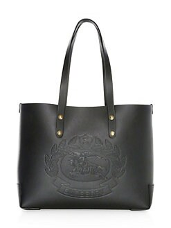 09a64ccbe0b0fc Small Crest-Embossed Tote BLACK. QUICK VIEW. Product image