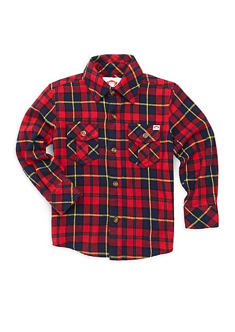 Little Boys  Boys Cotton Flannel Shirt