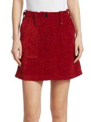 Mcq Alexander Mcqueen Red Major Miniskirt in Brick