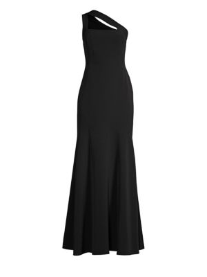 One Shouldered Crepe Gown by Laundry By Shelli Segal