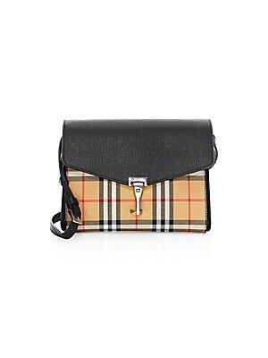 919c23d84223 Burberry - Small Macken Leather   Vintage Check Crossbody Bag - saks.com
