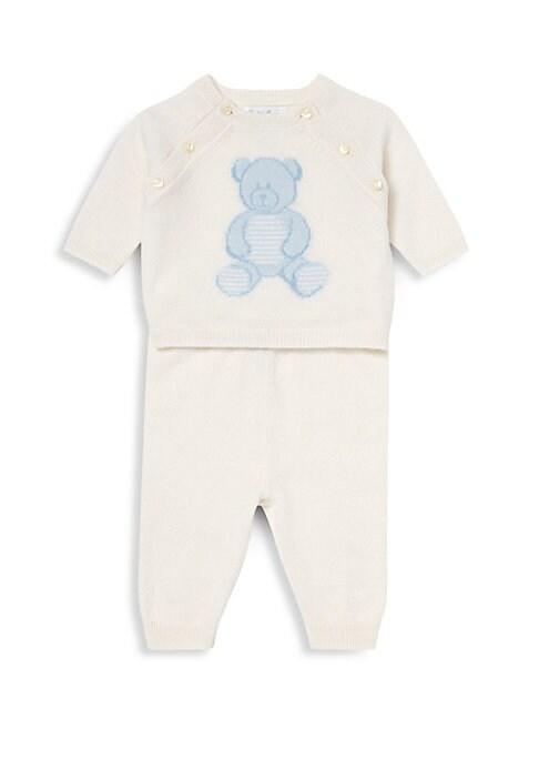 Baby Boys Cashmere Teddy Bear TwoPiece Set