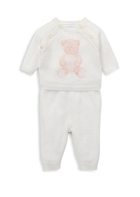 Baby Girls Cashmere Teddy Bear TwoPiece Set