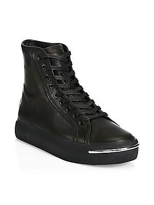 6b34c68b9ae Alexander Wang - Gabi Leather Block Heel Booties - saks.com