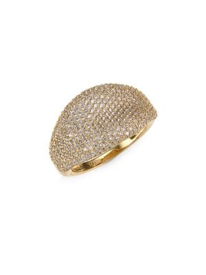 ADRIANA ORSINI 18K Goldplated Sterling Silver Statement Ring