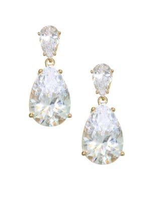 ADRIANA ORSINI 18K Goldplated Sterling Silver Double Pear Drop Earrings