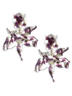 Lele Sadoughi Paper Lily Drop Earrings