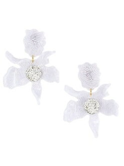405de5428 QUICK VIEW. Lele Sadoughi. Crystal Lily Clip-On Earrings