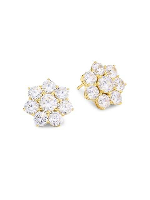 18K Goldplated Sterling Silver Floral Stud Earrings