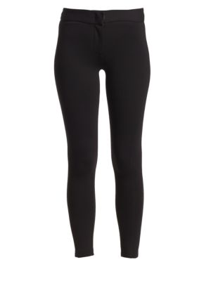 Double Face Stretch Jersey Leggings in Black