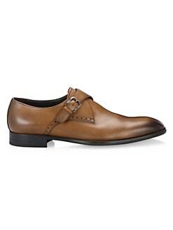 09dd03f342d QUICK VIEW. Ermenegildo Zegna. Flex Monk Strap Burnished Leather Shoes