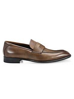 9396830c9e3 Ermenegildo Zegna - Flex Leather Penny Loafers