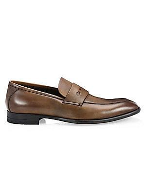 8f4b307c978 Salvatore Ferragamo - Fiorino 2 Textured Leather Penny Loafers ...