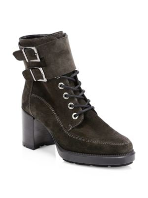 AQUATALIA Irene Suede Ankle Boots in Grey