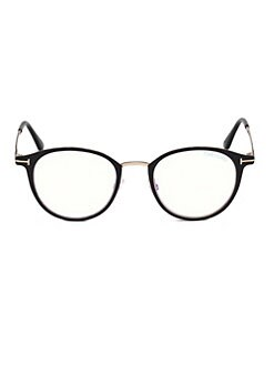 2c0491f45395 Tom Ford. Blue Block Metal 49MM Glasses