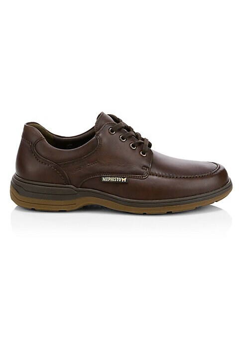 Image of Smooth leather elevates classic shoe with hydroprotect waterproofing system. Leather upper. Round toe. Lace-up vamp. Rubber sole. Made in Portugal.