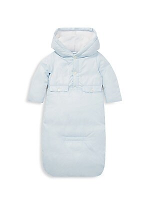 Image of Perfect for snowy days, this quilted jacket and bunting set from Ralph Lauren's exclusive Baby Collection features 650-fill-power down, which provides superior warmth and minimal bulk. Polyester/nylon. Machine wash. Imported. JACKET Attached fleece lined