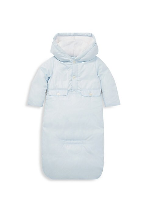 Image of Perfect for snowy days, this quilted jacket and bunting set from Ralph Lauren's exclusive Baby Collection features 650-fill-power down, which provides superior warmth and minimal bulk. Polyester/nylon. Machine wash. Imported. JACKET. Attached fleece lined