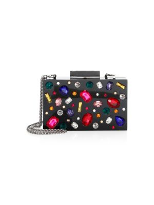Alice And Olivia Jeweled Lucite Clutch