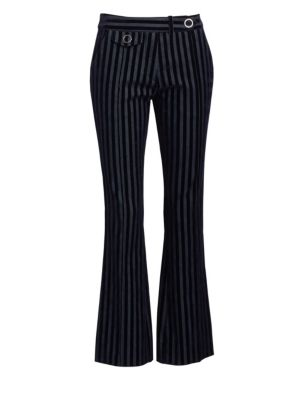 Velvet Stripe Cropped Trousers by Derek Lam 10 Crosby