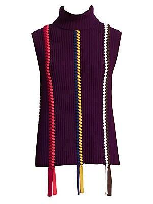 9a75e59bcde565 Derek Lam 10 Crosby - Sleeveless Turtleneck Sweater - saks.com