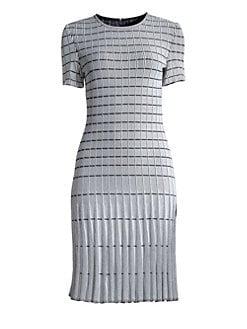 066f768c St. John. Monochrome Ottoman Knit Sheath Dress
