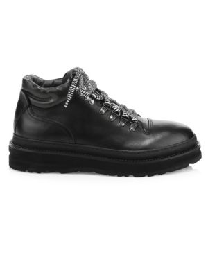 All Terrain Leather Hiking Boots in Black