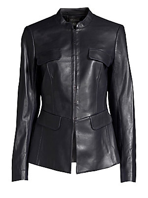 Leather Corset Jacket by St. John