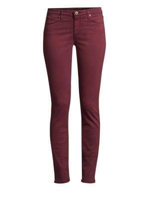 'The Prima' Cigarette Leg Skinny Jeans, Immersed Radiant Rhubarb