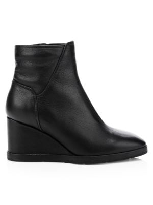 Judy Weatherproof Leather Wedge Booties by Aquatalia