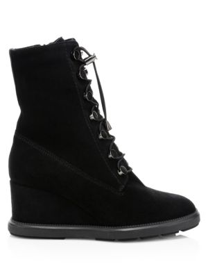 Campbell Suede Wedge Boots by Aquatalia