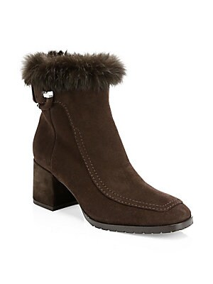 ab5ca3460 Aquatalia - Charlize Rabbit Fur-Trim   Shearling-Lined Suede Ankle Boots