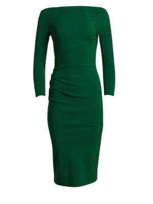 Sotera Off The Shoulder Midi Dress by Chiara Boni La Petite Robe