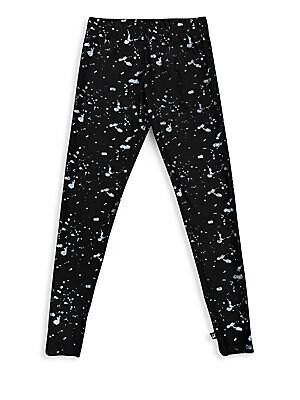 b4ed9d3d3 Terez - Little Girl's & Girl's Hologram Splatter Foil Leggings