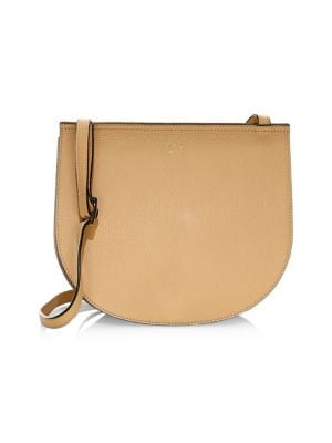 OAD Luna Pebbled Leather Crossbody Bag in Light Camel